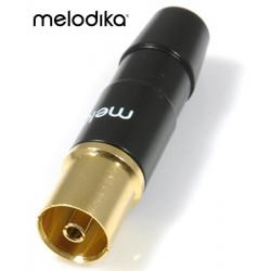 Melodika MDGANT – Pozłacane gniazdo antenowe IEC 1szt.
