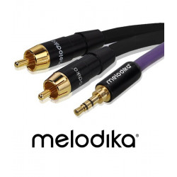 Melodika MDMJ2R100 Kabel Jack 3.5mm - 2 RCA 10m
