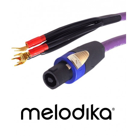Kabel do subwoofera z wtykiem Speakon Melodika MDRSUB10 - 1m