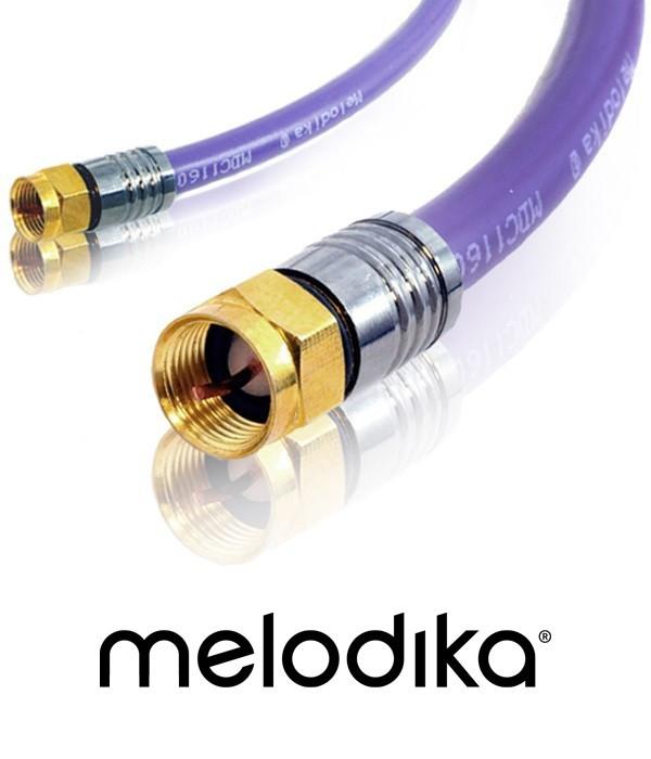 Kabel antenowy Melodika MDF10 Wtyk-Wtyk F 1m