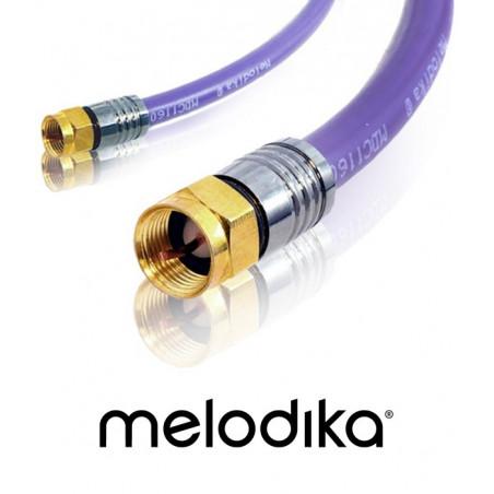 Kabel antenowy Melodika MDF05 Wtyk-Wtyk F 0.5m