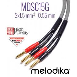Kable głośnikowe 2x1,5mm2 MDSC1575G Melodika 7.5m