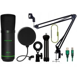 Novox NC-1 GAME Mikrofon + Statyw + Pop Filtr
