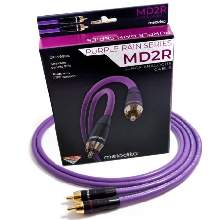 Melodika MD2R100 10m Kabel audio cinch 2 RCA - 2 RCA
