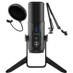 Mikrofon Novox NC-X + statyw biurkowy + pop filtr
