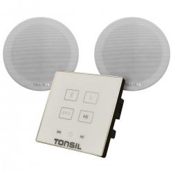 Tonsil WS-35B + 2 x ZGSU 20 - Zestaw odtwarzacz ścienny i 2 głośniki