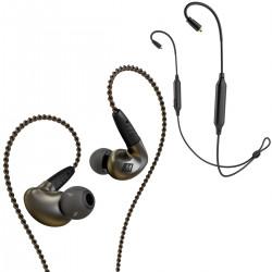 MEE Audio Pinnacle P1 + BTX1 - Słuchawki dokanałowe z adapterem Bluetooth