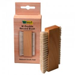 Winyl W-Double Record Brush - Szczotka do płyt winylowych