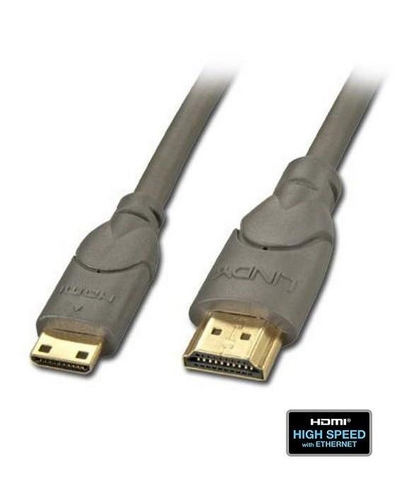 Kabel (przewód) HDMI - mini HDMI Lindy 41031 - 1m