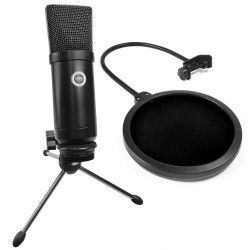 SAIBU MU-1 - Studyjny mikrofon pojemnościowy USB + POP Filtr
