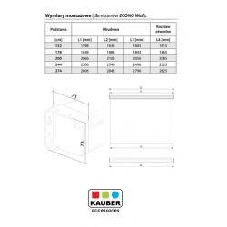 Ekran projekcyjny Kauber Econo Wall 200 x 200 cm 1:1