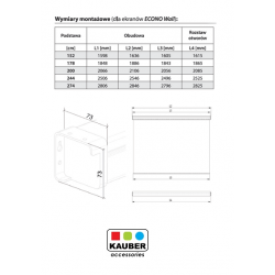 Ekran projekcyjny Kauber Econo Wall 152 x 152cm 1:1