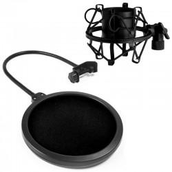 Pop Filtr Mikrofonowy PS1 + Kosz antywibracyjny 43-47mm - Zestaw SAIBU