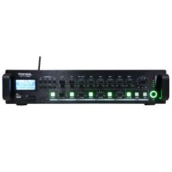 Tonsil WL-120 - Wzmacniacz miksujący 4-strefowy 120W Bluetooth / FM / SD / XLR