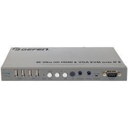 Gefen EXT-UHDV-KA-LANS-RX - Odbiornik systemu dystrybucji sygnału 4K Ultra HD HDMI i VGA KVM przez IP