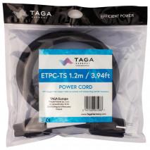Taga Harmony ETPC-TS – Przewód zasilający 1,2m Schuko-IEC