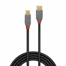 Lindy Anthra Line 36891 - Kabel USB-C 2.0 - Micro USB-B – 1m