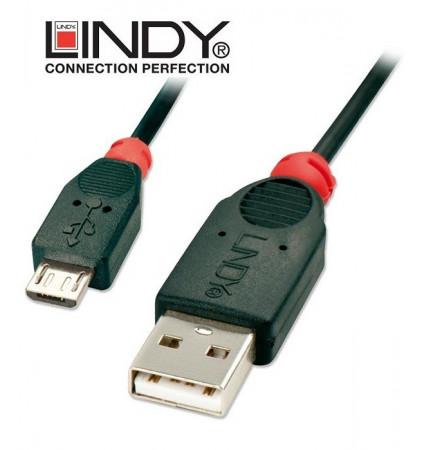 Kabel (przewód) USB A - micro B Lindy