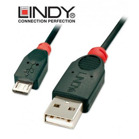 Kabel (przewód) USB A - micro B Lindy 31665 2 m