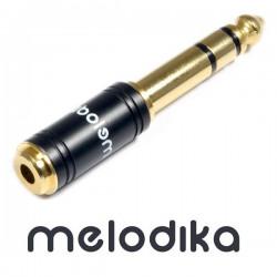 Melodika MDJGMJ  mini Jack 3.5mm - Jack 6.3 mm