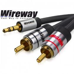 Kabel Jack - 2RCA Wireway 1m