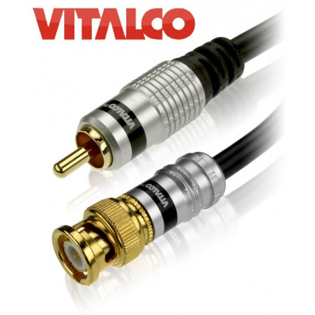 Kabel (przewód) BNC-RCA Vitalco 3m