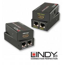 Extender (przedłużacz)/adapter HDMI RJ-45 Lindy 38023