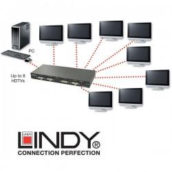 Splitter (rozdzielacz) DVI 1-8 Lindy 38108