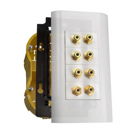 Gniazdo Panel 2M MOSAIC Multipanel 8 x RCA (Cinch)