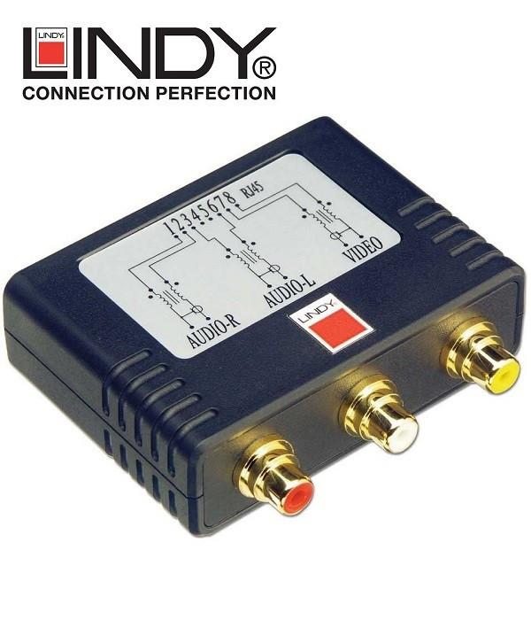 Extender (przedłużacz) Composite - Audio Lindy 32535