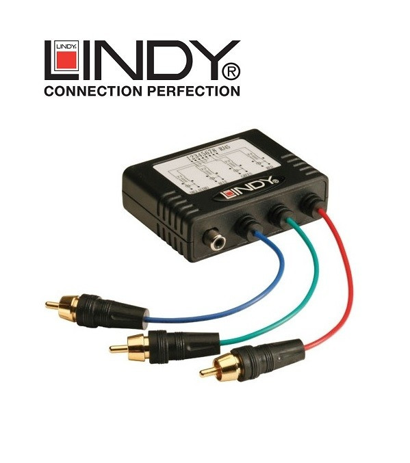 Extender / konwerter Component-Coaxial Lindy 32525