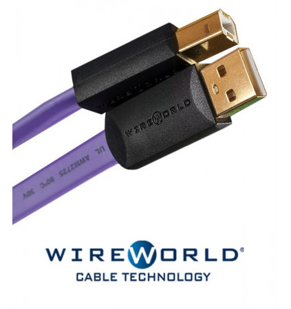 Kabel USB 2.0 A-B WireWorld Ultraviolet 0.5m
