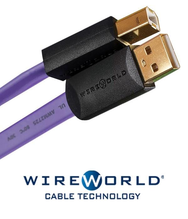 Kabel USB 2.0 A-B WireWorld Ultraviolet 0.5m