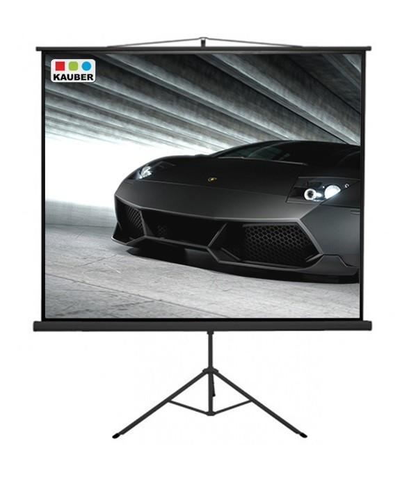 Ekran na statywie Kauber Econo Mobil tripiod 152 x 152 cm 1:1