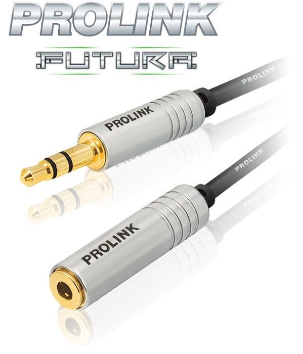 Prolink Futura Slim Przedłużacz wtyk - gniazdo mini-Jack 3.5mm - 2m