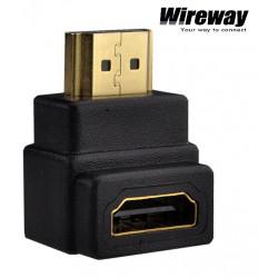 Płaskie przejście kątowe HDMI - HDMI 90 stopni