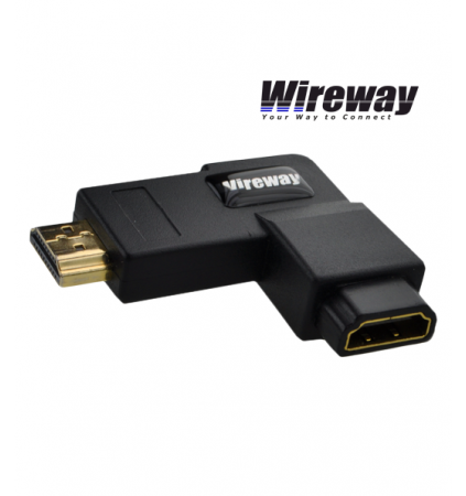 Przejściówka adapter WireWay HDMI - HDMI 90 stopni