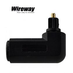 Przejściówka adapter Kątowy 90st. Toslink WireWay