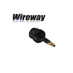 Adapter optyczny WireWay Toslink - Jack Toslink