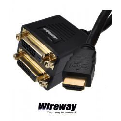 Splitter / rozdzielacz HDMI - 2xDVI WireWay