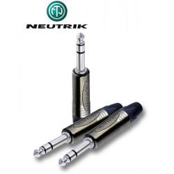 Wtyk Jack STEREO 6.3 mm męski Neutrik NP3X-BAG