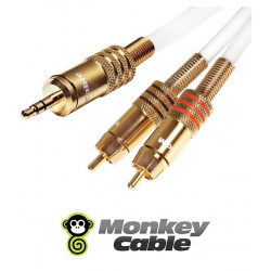 Kabel Jack 3.5 Stereo - 2RCA MonkeyCable Clarity MCYJ2P