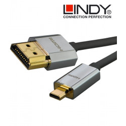 Kabel slim 2.0 HDMI - micro HDMI Lindy CROMO
