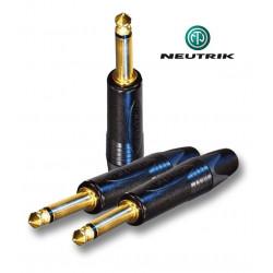 Wtyk Jack MONO 6.3 mm męski Neutrik NP2X-B