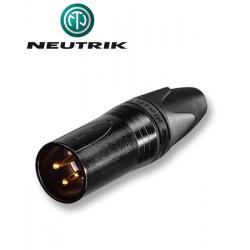 Wtyk XLR 3-pinowy męski Neutrik NC3MXX-B