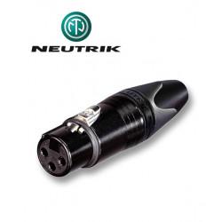 Wtyk XLR 3-pinowy żeński Neutrik NC3FXX-B