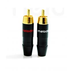 Wtyk RCA Melodika Hi-Fi MDRCA2 - 6mm (2szt)