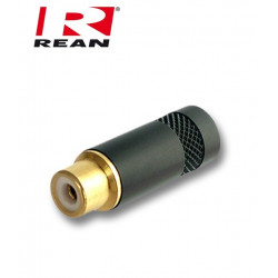 Gniazdo RCA z pozłacanym stykiem REAN- Neutrik NYS 372P-BG