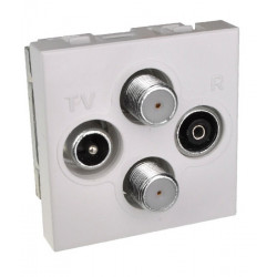 Gniazdo antenowe RTV / SAT Panel MOSAIC 45 x 45mm
