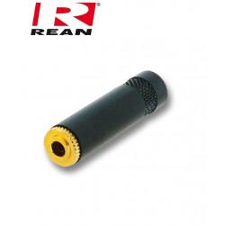 Pozłacane Gniazdo mini Jack 3.5mm STEREO REAN / Neutrik NYS 240BG